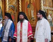 Their Graces Bishops Teodosije, Sergije & David