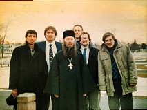 With Hieromonk Peter and fellow seminarians