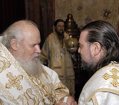 With Patriarch Alexei II
